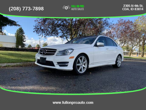 2014 Mercedes-Benz C-Class for sale at Full On Pro Auto in Coeur D'Alene ID