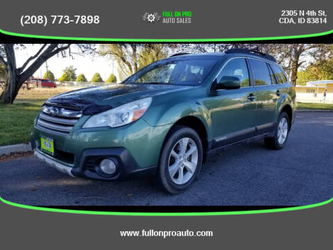 2013 Subaru Outback for sale at Full On Pro Auto in Coeur D'Alene ID