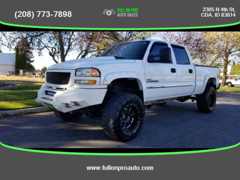 2006 GMC Sierra 2500HD for sale at Full On Pro Auto in Coeur D'Alene ID