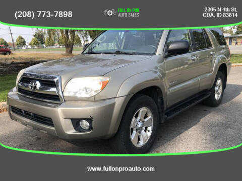2006 Toyota 4Runner for sale at Full On Pro Auto in Coeur D'Alene ID