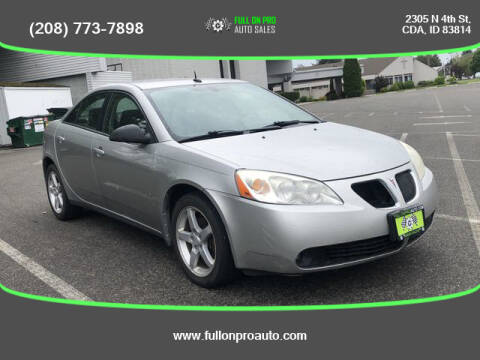 2008 Pontiac G6 for sale at Full On Pro Auto in Coeur D'Alene ID