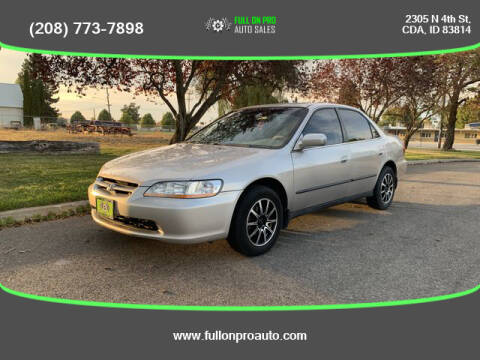 1998 Honda Accord for sale at Full On Pro Auto in Coeur D'Alene ID
