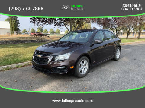 2015 Chevrolet Cruze for sale at Full On Pro Auto in Coeur D'Alene ID