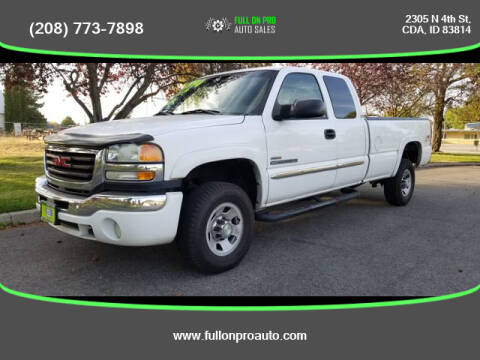 2003 GMC Sierra 2500HD for sale at Full On Pro Auto in Coeur D'Alene ID