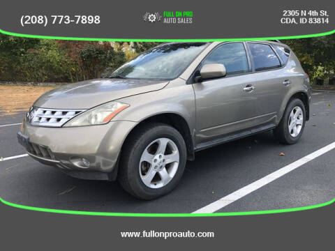 2003 Nissan Murano for sale at Full On Pro Auto in Coeur D'Alene ID
