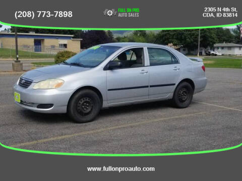 2005 Toyota Corolla for sale at Full On Pro Auto in Coeur D'Alene ID