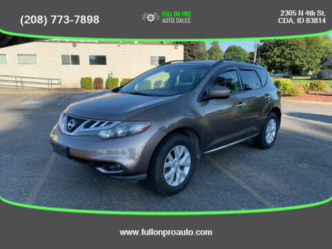 2013 Nissan Murano for sale at Full On Pro Auto in Coeur D'Alene ID