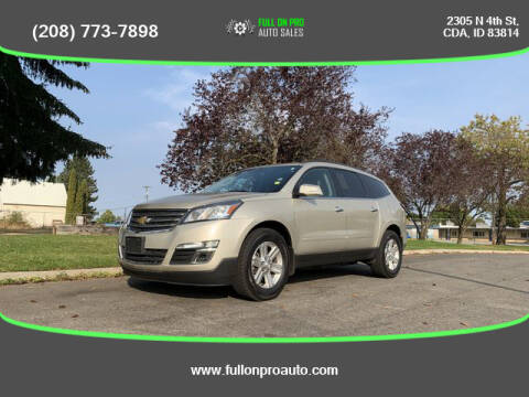 2013 Chevrolet Traverse for sale at Full On Pro Auto in Coeur D'Alene ID