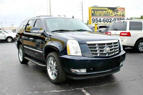 2009 cadillac escalade for sale florida. Black Bedroom Furniture Sets. Home Design Ideas