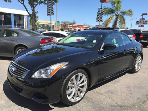 2010 Infiniti G37 Convertible for sale in Garden Grove, CA
