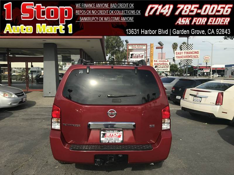 2005 Nissan Pathfinder SE Off Road 4WD 4dr SUV In GARDEN GROVE CA