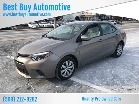 2015 Toyota Corolla for sale at Best Buy Automotive in Attleboro MA