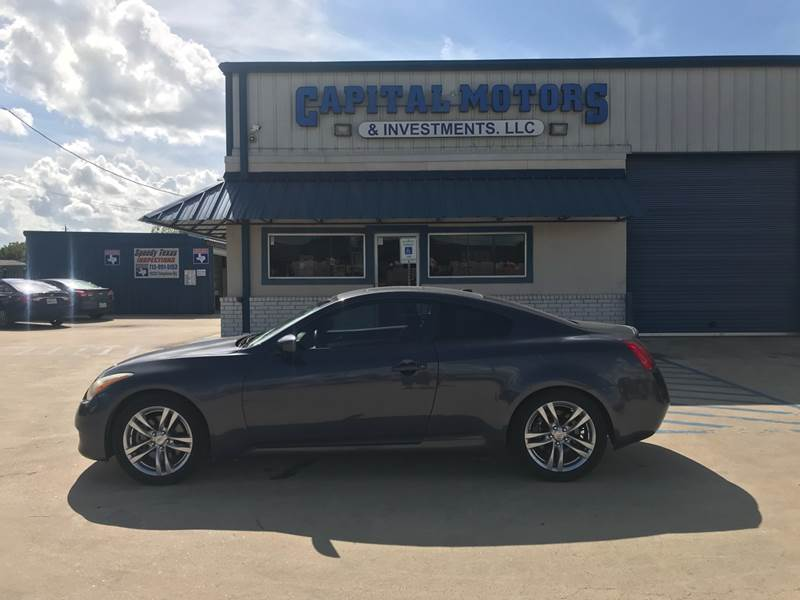 2009 Infiniti G37 Coupe Journey 2dr Coupe In Houston Tx Capital