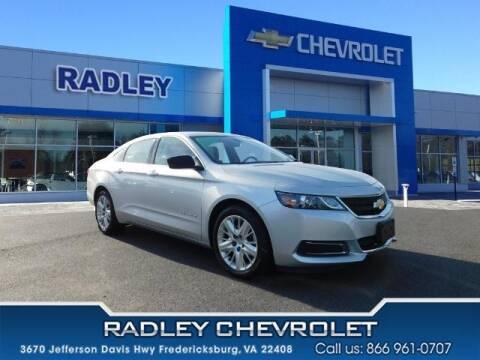 2017 Chevrolet Impala for sale at Radley Cadillac in Fredericksburg VA