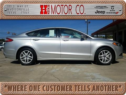 2014 Ford Fusion for sale in Madisonville, TX