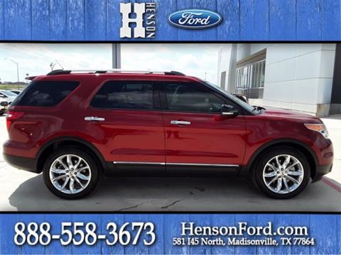 Henson Ford Madisonville Tx >> Ford Explorer For Sale In Madisonville Tx Henson Cdjr