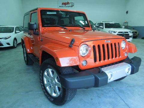 2015 Jeep Wrangler for sale at MPH IMPORT & EXPORT INC in Miami FL