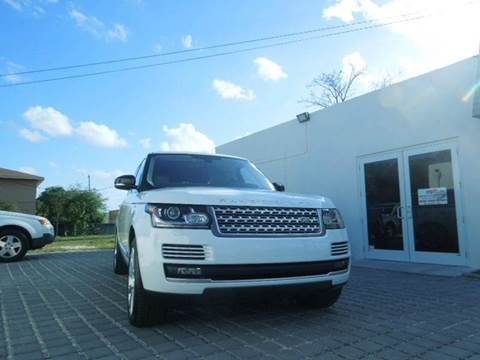 2016 Land Rover Range Rover for sale at MPH IMPORT & EXPORT INC in Miami FL
