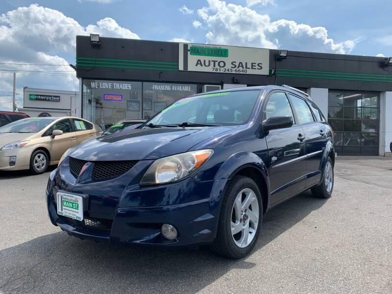 2003 Pontiac Vibe for sale at Wakefield Auto Sales of Main Street Inc. in Wakefield MA