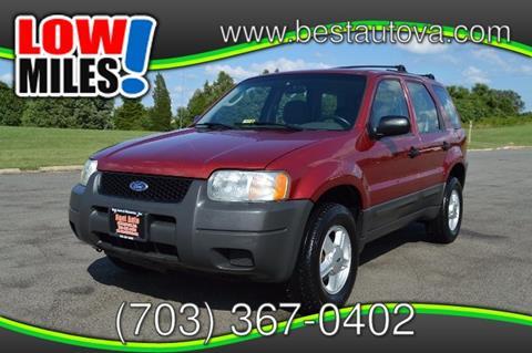 2003 Ford Escape for sale in Manassas, VA