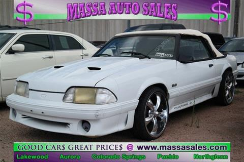 Cars For Sale In Pueblo >> 1987 Ford Mustang For Sale In Pueblo Co