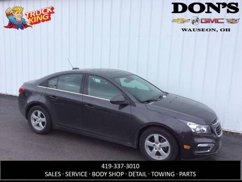 2016 Chevrolet Cruze Limited 1LT Auto for sale at DON'S CHEVY, BUICK-GMC & CADILLAC in Wauseon OH