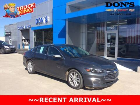 2016 Chevrolet Malibu for sale at DON'S CHEVY, BUICK-GMC & CADILLAC in Wauseon OH