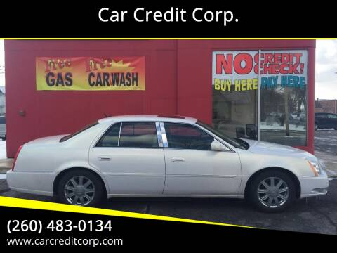 2007 Cadillac DTS Luxury I for sale at Car Credit Corp. in Fort Wayne IN