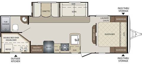 2016 BULLET 274 BHS for sale at Oregon RV Outlet LLC - Travel Trailers in Grants Pass OR
