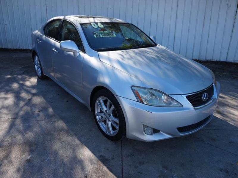 2006 LEXUS IS 250 BASE 4DR SEDAN WAUTOMATIC silver front side air bagamfm stereocd changercd