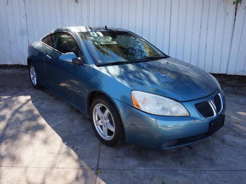 2009 PONTIAC G6 GT 2DR COUPE W1SB green 4-wheel disc brakesauto-on headlightstires - rear tour