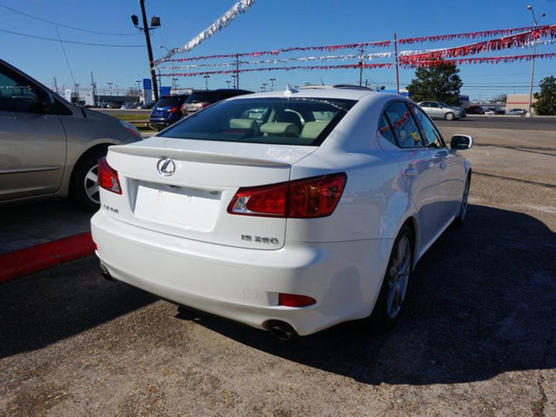 2009 LEXUS IS 250 BASE 4DR SEDAN 6A white power tiltsliding sunroofrear parking aidpassenger a
