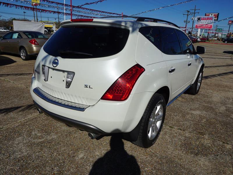 2007 NISSAN MURANO SL 2WD white tire pressure monitorrear spoilervariable speed intermittent wi