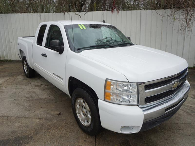 2011 CHEVROLET SILVERADO 1500 LT 4X4 4DR EXTENDED CAB 65 FT white front side air bagalarmamf