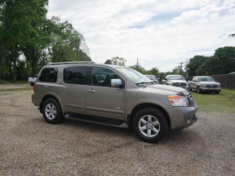 2009 NISSAN ARMADA LE 2WD desert stone luggage rackdriver illuminated vanity mirrorrear parking