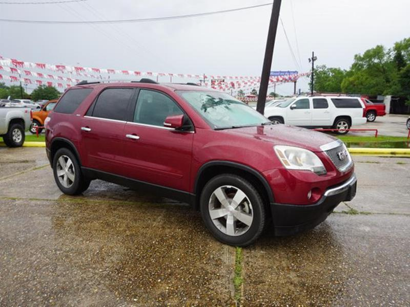 2010 GMC ACADIA SLT 1 4DR SUV red jewel auxiliary audio inputpower liftgatebluetooth connection
