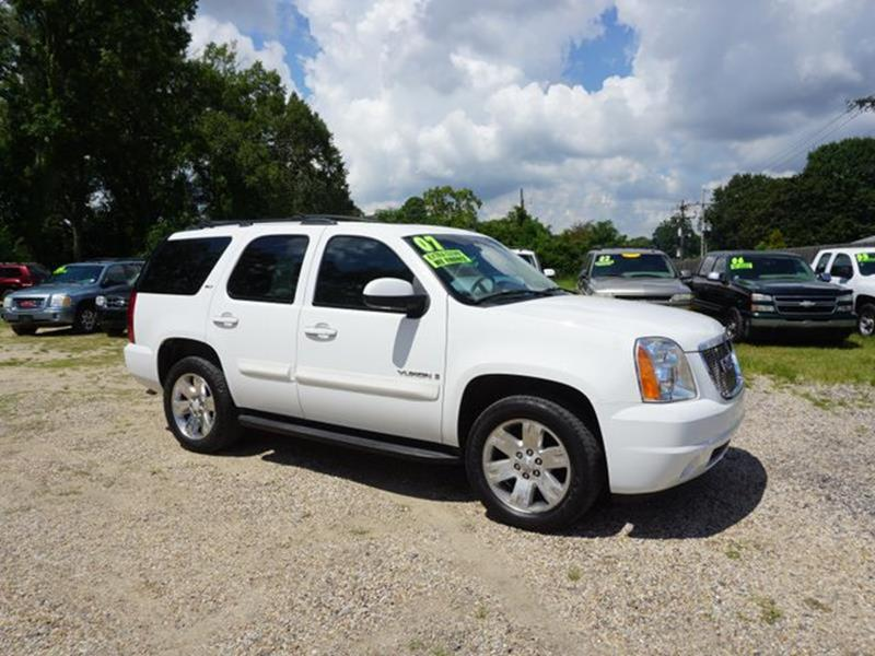 2007 GMC YUKON 1500 SLT 2WD summit white rear bench seatcargo shaderemote engine startfront to