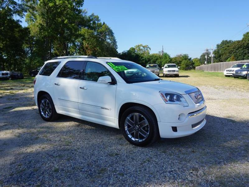 2011 GMC ACADIA DENALI 4DR SUV white diamond driver air bagclimate controlacchild safety lock