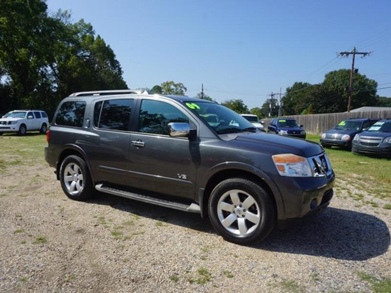 2009 NISSAN ARMADA LE 2WD gray front head air bagmulti-zone accd changercd player4-wheel abs