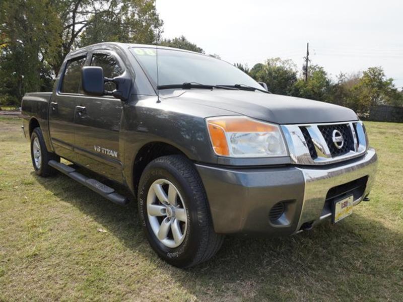 2008 NISSAN TITAN SE 2WD smoke metallic satellite radiotow hitchpassenger air bag4-wheel disc