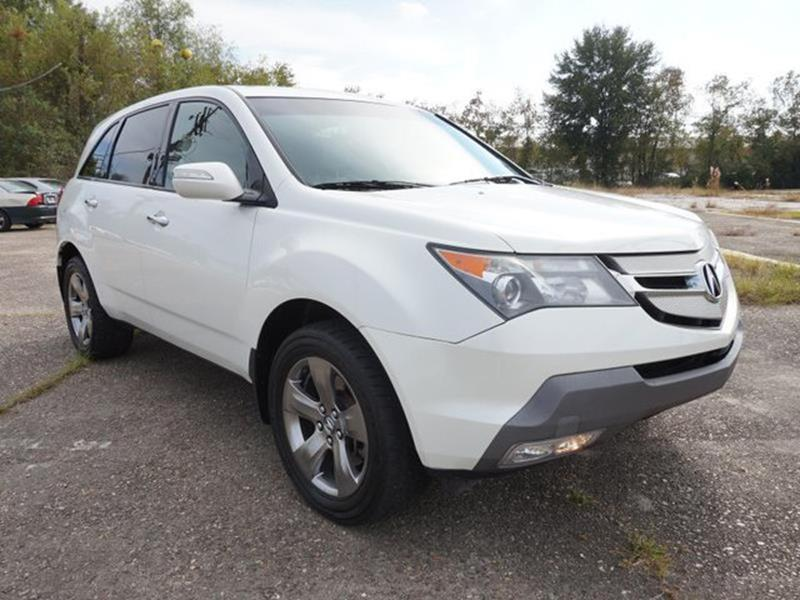 2008 ACURA MDX SH AWD WSPORT WRES 4DR SUV AND aspen white pearl alarmamfm stereo4-wheel abs