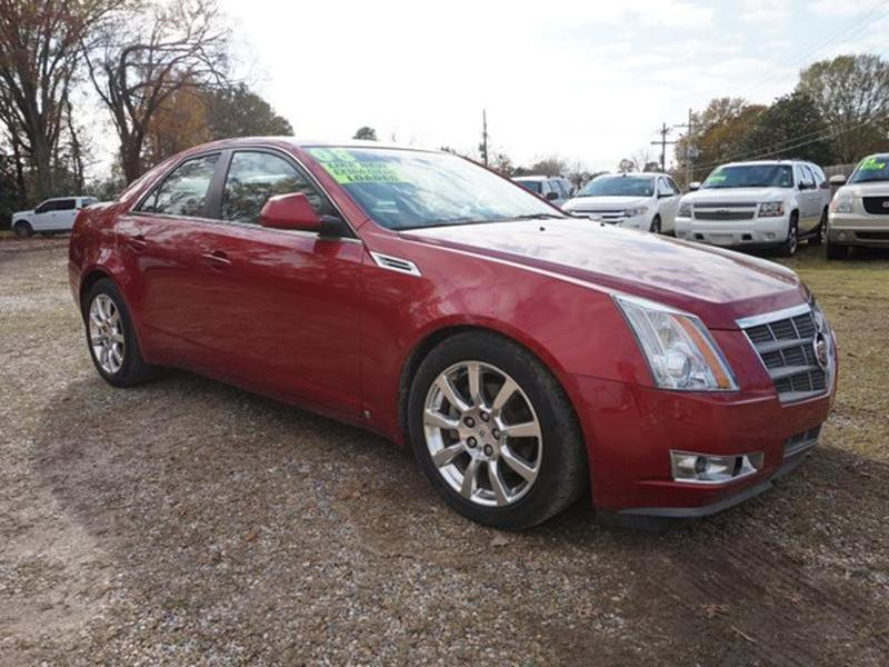 2008 CADILLAC CTS 36L DI 4DR SEDAN crystal red power tiltsliding sunroofheated driver seataux