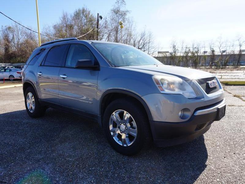 2008 GMC ACADIA SLE 1 4DR SUV blue-gold crystal metallic power passenger seatauxiliary audio inp