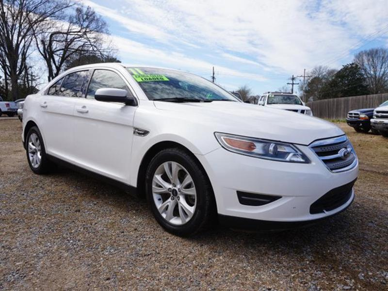 2011 FORD TAURUS SEL 4DR SEDAN white platinum metallic tri- brake assisttrip computerrear readi
