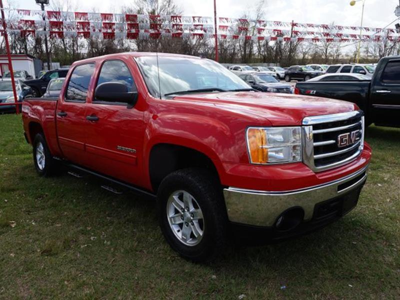 2012 GMC SIERRA 1500 SLE 4X4 4DR CREW CAB 58 FT SB fire red climate controlrunning boardsside