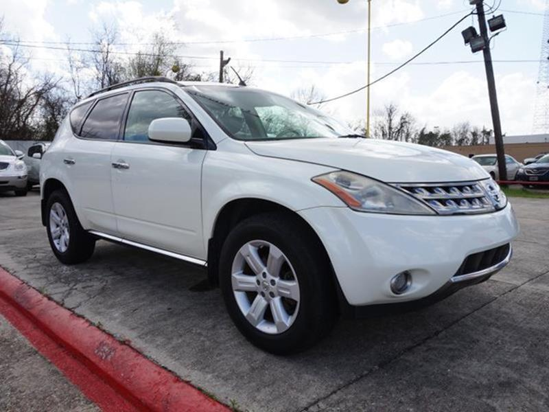 2007 NISSAN MURANO SL 2WD glacier pearl leather seatspassenger air bagfront side air bagfront