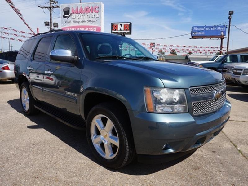 2008 CHEVROLET TAHOE LTZ 2WD blue granite metallic entertainment systemdriver air bagfront head
