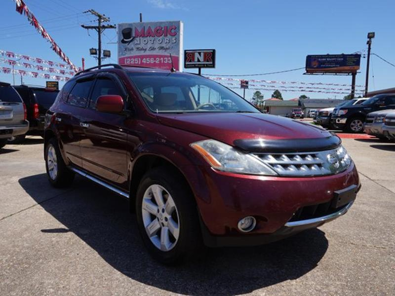 2007 NISSAN MURANO SL 2WD merlot pearl front wheel drivechild safety lockscd playeralarmclima