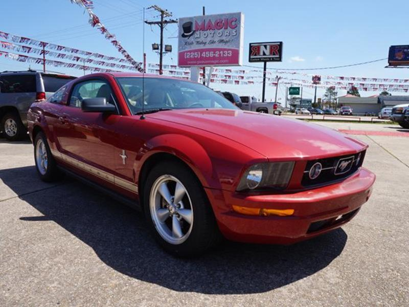 2008 FORD MUSTANG dk candy apple red metallic mp3 playertires - rear all-seasonpass-through rea