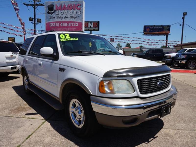 2002 FORD EXPEDITION EDDIE BAUER 2WD 4DR SUV oxford white driver air bagrear acamfm stereocd